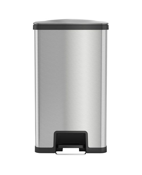 iTouchless AirStep 18 Gallon Step Trash Can with Deodorizer, Stainless Steel