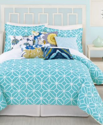 trina turk trellis turquoise twintwin xl comforter set