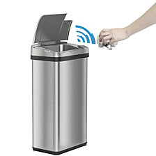 iTouchless 4 Gal Stainless Steel Touchless Trash Can with Deodorizer & Fragrance