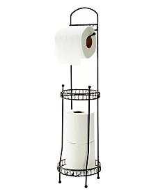 Bath Bliss Curls Design Toilet Tissue Dispenser and Holder