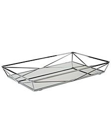 Geometric Mirrored Vanity Tray