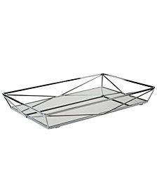 Home DetailsLarge Geometric Mirrored Vanity Tray