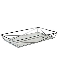 Home DetailsLarge Geometric Mirrored Vanity Tray