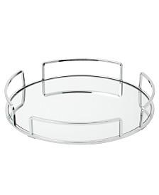 Home Details Modern Round Design Mirror Vanity Tray