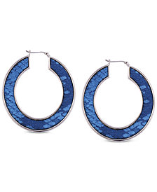 GUESS Faux Python Hoop Earrings