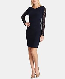 Lauren Ralph Lauren Sequin-Sleeve Dress