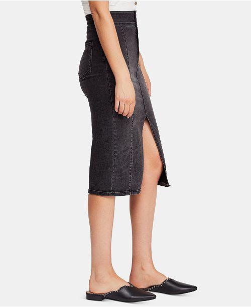 1bde0e78849c Free People Maddie Denim Midi Skirt & Reviews - Skirts - Juniors ...