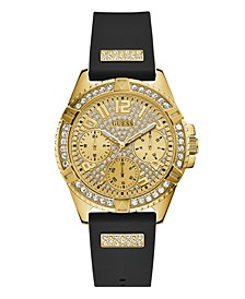 Black Silicone Glitz Watch 40MM, Created for Macy's