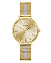 GUESS Women s Gold and Silver Mesh Watch 38MM ebc6b7050025