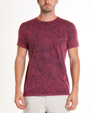 ORIGINAL PAPERBACKS South Sea Mineral Wash Tie Dye Crewneck Tee in Burgundy