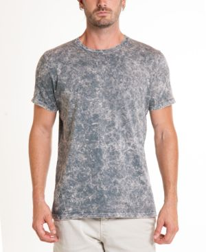 ORIGINAL PAPERBACKS South Sea Mineral Wash Tie Dye Crewneck Tee in Grey