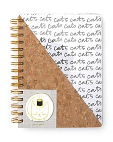 Spiral Cork and Clear Medium Notebook