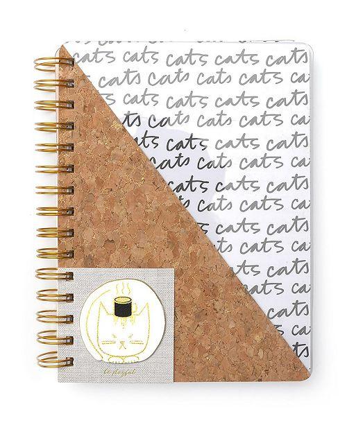 Mara-Mi Spiral Cork and Clear Medium Notebook