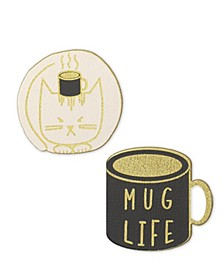 Vegan Leather Mug Life Patch Set