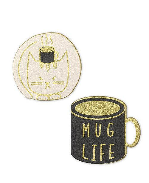 Mara-Mi Vegan Leather Mug Life Patch Set