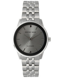 Geoffrey Beene Genuine Black Diamond Dial Bracelet Watch