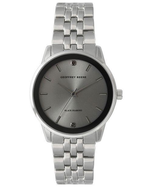 4e19aa30a4eb Geoffrey Beene Genuine Black Diamond Dial Bracelet Watch - Men - Macy s