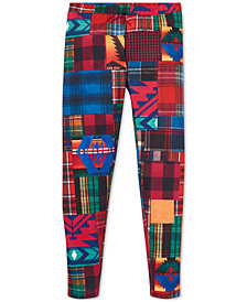Polo Ralph Lauren Big Girls Patchwork Stretch Leggings