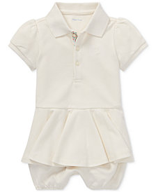 Polo Ralph Lauren Baby Girls Peplum Cotton Romper