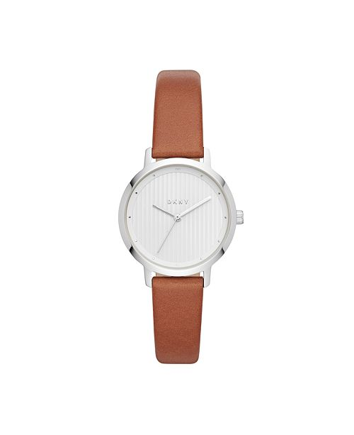 DKNY Women's Modernist Tan Leather Strap Watch 32mm, Created for Macy's