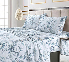 Vernazza Printed 300 TC Cotton Sateen Extra Deep Pocket Queen Sheet Set