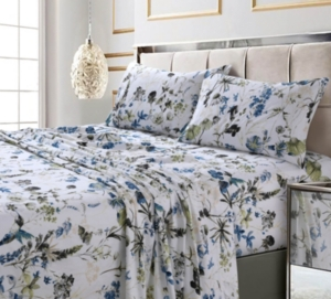 Amalfi Printed 300 Tc Cotton Sateen Extra Deep Pocket Twin Xl Sheet Set Bedding