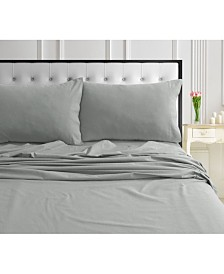 170-GSM Ultra-Soft Cotton Flannel Solid Extra Deep Pocket Queen Sheet Set