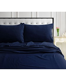 170-GSM Ultra-Soft Cotton Flannel Solid Extra Deep Pocket Cal King Sheet Set