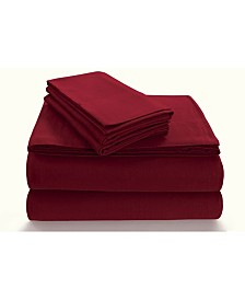 Tribeca Living Flannel 170-GSM Cotton Solid Extra Deep Pocket Full Sheet Set