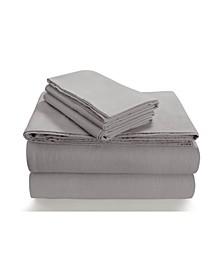 Flannel 170-GSM Cotton Solid Extra Deep Pocket King Sheet Set