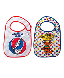 2-Pack of Pink Floyd Dark Side of The Moon and The Wall Extra Soft Bibs by Daphyl's