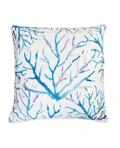 """THRO Tygna Coral Pillow, 20"""" x 20"""""""