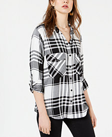 Sanctuary Plaid Utility Shirt