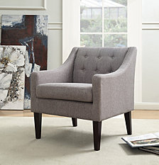 Morgan Mid Century Tailored Tufted Accent Chair, Quick Ship