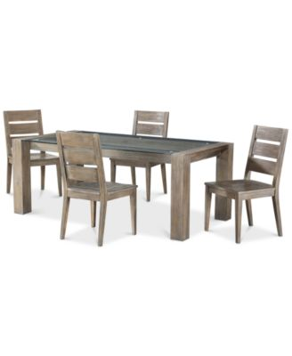 Sava Dining Furniture, 5-Pc. Set (Table & 4 Side Chairs), Created for Macy's