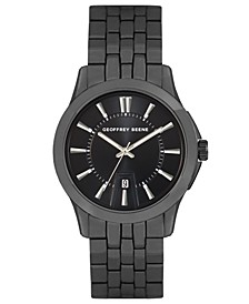 Embossed Black Dial Bracelet Watch