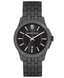 Geoffrey Beene Embossed Black Dial Bracelet Watch