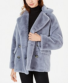 Kate Faux-Fur Double-Breasted Jacket