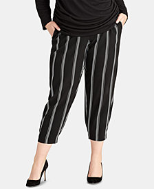 RACHEL Rachel Roy Plus Size Rina Stripe Jogger Pants, Created for Macy's