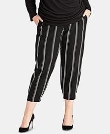 RACHEL Rachel Roy Plus Size Rina Stripe Jogger Pants, Created for Macy's