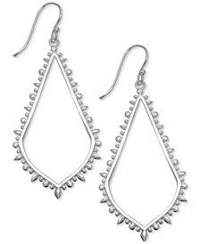 Essentials Textured Open Teardrop Drop Earrings in Fine Silver-Plate