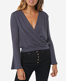 O'Neill Juniors' Faux-Wrap Top