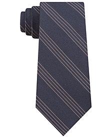 Calvin Klein Men's Gold Dust Slim Metallic Quad Stripe Tie