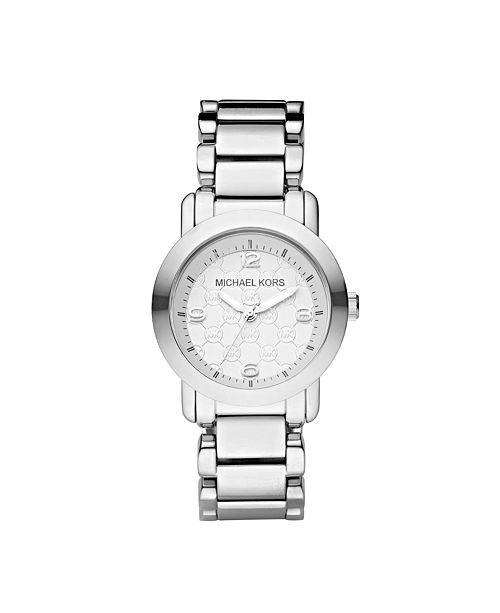 f9054d622101 Michael Kors Women s Janey Stainless Steel Bracelet Watch 34mm ...