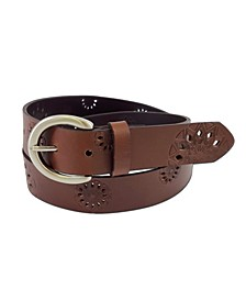 Accessories Embossed Leather Belt