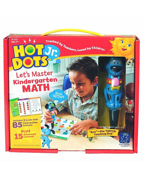 Learning Resources Educational Insights Hot Dots Jr Let's Master Kindergarten Math Set With Ace Pen