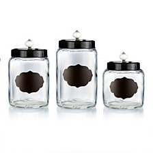 Jay Imports Glass Canister, Set of 3