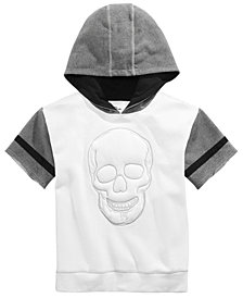 Epic Threads Big Boys Short-Sleeve Skull Graphic Hoodie, Created for Macy's