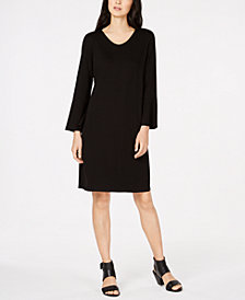 Eileen Fisher Tencel ® Bracelet-Sleeve Dress