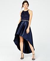 63401fb1f5d BCX Juniors  Sparkle Lace Rhinestone High-Low Dress